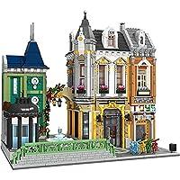 ビルディングブロックハウス5290ピースモジュラートイストアモデルキット3階建ての建物クリップビルディングモデル