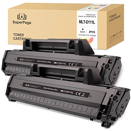 2 Superpage XL Toner Samsung MLT-D111S MLT-D111L Kompatibel für Samsung Xpress M2070W M2026W M2070FW M2026 M2020 M2022 M2022W M2020W,2schwarz
