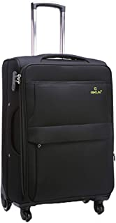 Business Trolley Case with Laptop Compartment Suitcase,Luggage Cabin Approved Bag 20 Inch (Color : Black, Size : 20-inch)