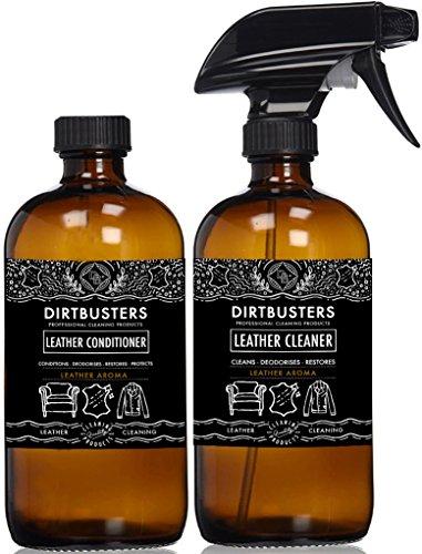 Dirtbusters - Limpiador y acondicionador de cuero con aroma de cuero.