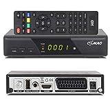 Comag HD25 Volks-Receiver HDTV HD Satelliten Receiver SAT schwarz + USB 2.0, DVB-S2, HDMI, SCART + HDMI + Astra 1080p digital digitaler Satellitenreceiver