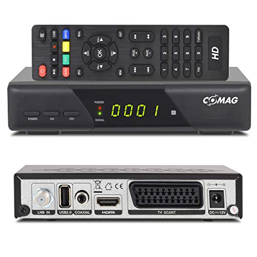 Comag HD25 Volks-Receiver HDTV HD Satelliten Receiver SAT schwarz + USB 2.0, DVB-S2, HDMI, SCART + HDMI + Astra 1080p digital digitaler Satellitenreceiver