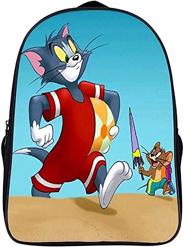 T-om und Jerry, zainetto per bambini, zaino sportivo, zaino leggero, regalo, Tom3, 16 pollici,