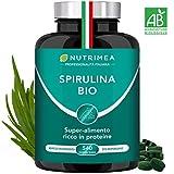 Spirulina BIO 1500 mg Al Giorno • 540 Compresse Con il 60% di Proteine Vegetali in più • Alga...