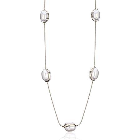 Ouran Collar Largo de Moda para Mujer, Collar de Perlas para niñas, Oro y Plata, Collar de Cadena, Regalo para mamá, Amigos