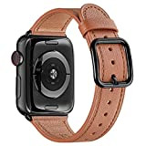 MNBVCXZ Armbänder Kompatibel mit Apple Watch Armband 38 mm 40 mm 42 mm 44 mm,Top Grain Lederband...