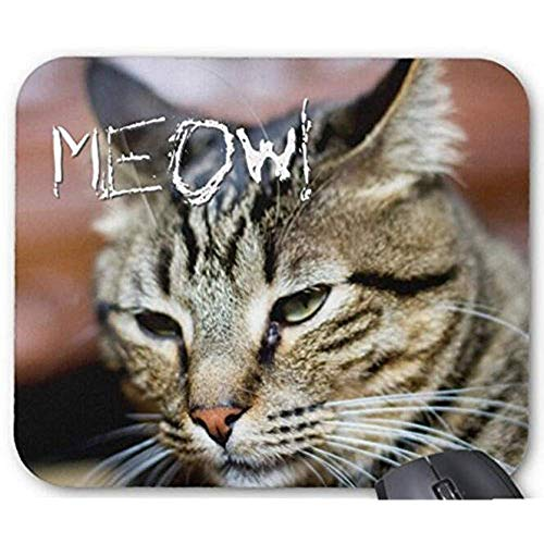 Mauspad Mauspad rutschfeste-Mausunterlage Meow! Ihr Eigenes Katzen Foto-Geschenk Mousepad Computerzubehör-Spiel-Mäusematte