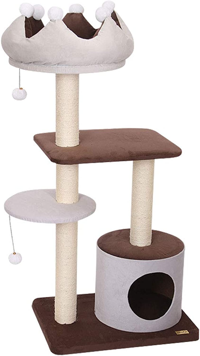GCHOME Cat tree tower Cat Tree Tower, plush natural sword cat tree cat climbing frame wearresistant scratchresistant durable A2