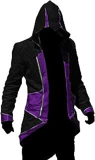 Hoodie Jacket Coat (Black&Purple,Women-XL)