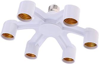 HOMYL E27 1 to 6 LED Lamp Lights Bulb Base Socket Splitter Holder Converter Energy Saving