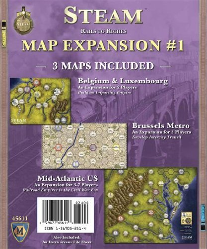 Mayfair Games MF5611 Steam Map Expansion #1