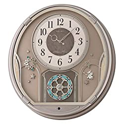 Seiko Melodies in Motion Shooting Stars Wall Clock, brown
