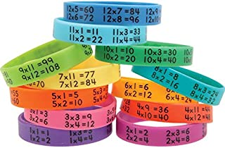 Really Good Stuff 160452 Multiplication Facts Bracelets, Assorted