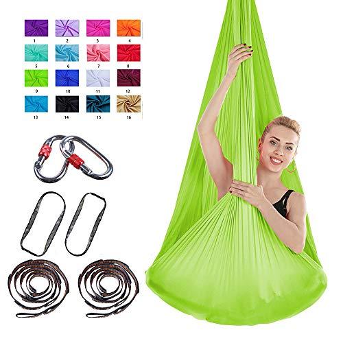 PUDDINGHH® Stretch Air Yoga Hängematte Indoor Silk Anti-Gravity Yoga Free Mit Schnalle und Seil Verknotet,9