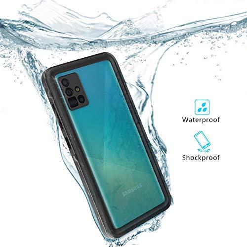 Redpepper IP68 Impermeable Carcasas para Samsung Galaxy A51 6,5-Pulgadas Delgado Antichoque Antipolvo Cuerpo Completo Sellado Submarino TPU PC Funda