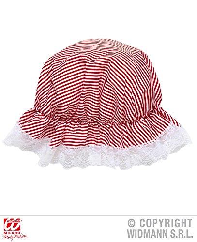 BADEHAUBE - 30er JAHRE - rot/weiß, Goldene Zwanziger 20er Jahre Badenixen