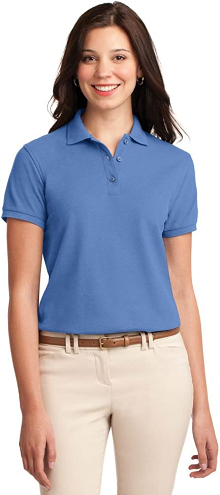 Port Authority Ladies Silk Touch Polo, Ultramarine Blue, X-Large