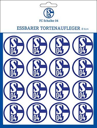 Essbarer Torten & Muffinaufleger Schalke04 - 4cm Ø / 16 Stück