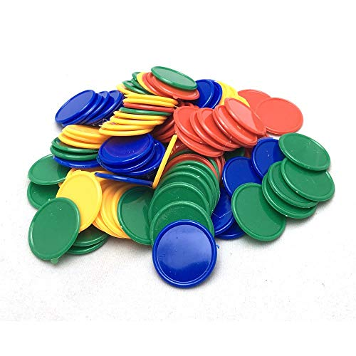 Smartdealspro Set of 100 1 Inch Plastic Learning Counting Counters Game Tokens Mini Poker ChipsRandom Color