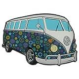 Volkswagen con Licencia Oficial VW Furgoneta Forma imán para Nevera–Azul Flores