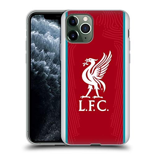 Official Liverpool Football Club Home 2020/21 Soft Gel Case Compatible for Apple iPhone 11 Pro