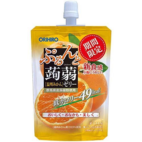 ぷるんと蒟蒻ゼリー 温州みかん 130g×8個 パウチ