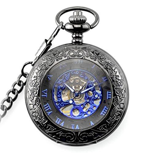 Taschen Uhr Taschenuhr Mit Kette Retro Jahrgang Schmuck Geschenk
