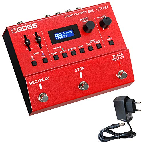 Boss RC-500 2-Spur Loop Station Looper Effekt Pedal + keepdrum 9V Netzteil
