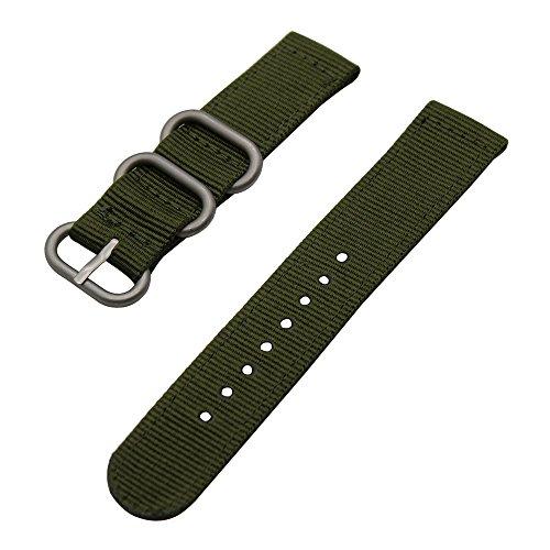 TRUMiRR Strap 24 Millimetri balistico Nylon Watch Band Zulu 2 Pezzi per...