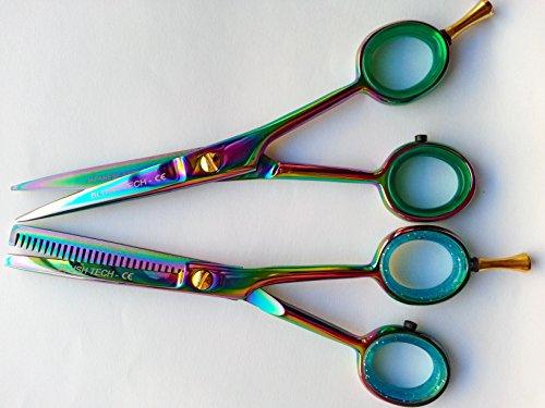 14 cm Cadeau Paire Professional Barber Ciseaux de coiffure & Ciseaux à effiler Ciseaux Salon Ciseaux + Gratuit double Coque