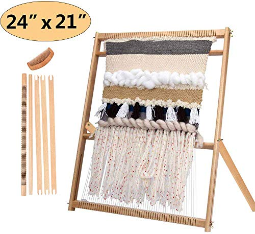 Foreen Wooden Kids DIY Weaving Loom Hand Sewing Knitting Machine Educational Toy Best Christmas Birthday Gift for Children