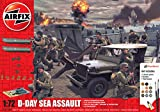 Airfix D-Day Sea Assault 1:72 WWII Military Diorama Plastic Model Gift Set A50156A