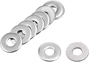 100 Pieces 8mm x 3mm x 0.6mm 304 Stainless Steel Flat Washer for Screw