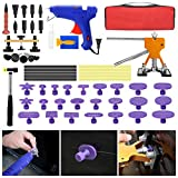 SILIVN Paintless Dent Repair Kit - 57 Pcs Dent Remover Tools for Car Hail Damage Dent & Ding Removal