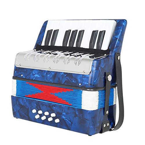 chiwanji Instrumento Musical Educativo de Acordeón de 17 Teclas Y 8 Bajos para Ambos Niños, Regalo para Adultos