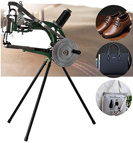 IRONWALLS Leather Sewing Machine 360 Degree Rotate Shoe Repair Mending Machine Shoe Patcher Manual Cotton Nylon Line Sewing Machine Hand Cobbler for Shoes Bags Cloth Leather Ship from USA