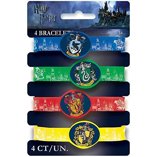 Partygeschenke - Harry-Potter-Silikon-Armbänder - 4er-Pack