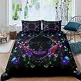 NFBZ - Juego de fundas de edredón para Galaxy Mandala (diseño bohemio de colores, juego de ropa de cama, funda de edredón, 200 x 200 cm + 50 x 75 cm x 2)