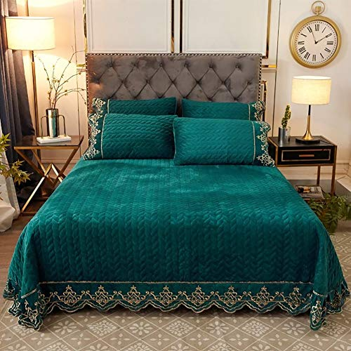 JANRON Tagesdecke Bettüberwurf Bettüberwurf Sofaüberwurf Bett Decke gesteppt Tages Tagesdecken Betthusse - 250X250/270CM