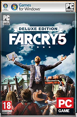 F-A-R- C-R-Y- 5 Deluxe Edition – Digital Download (NO DVD/CD) – Digital Download (NO DVD/CD) – [No Multiplayer/No Redeem* Code] -Full PC GAME