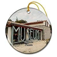 アルデシュのバラズックフランス自然史博物館クリスマスオーナメントセラミックシート旅行お土産ギフト