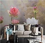 Fototapete 3D Chinesischen Stil Lotus Libelle Wandbild Schlafzimmer Wohnzimmer Tv Hintergrund Wand Seidentuch Wandbild Anpassbare Größe 250(B) X175(H) Cm