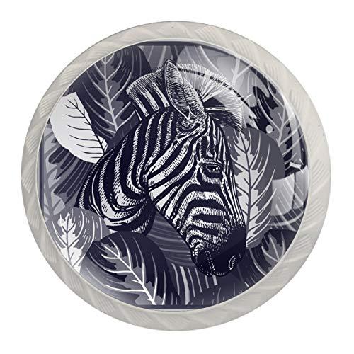 Juego de 4 pomos de cajón de cristal de cristal para cajones y cajones (3 unidades, 4 unidades)