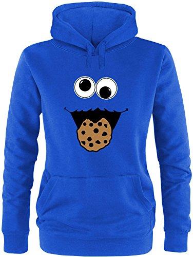 EZYshirt® Cookie Monster Damen Hoodie | Damen Kapuzenpullover | Damen Pullover