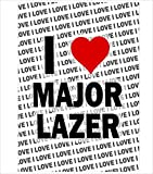 AK Giftshop Poster – I Love Major Lazer – Geschenk –