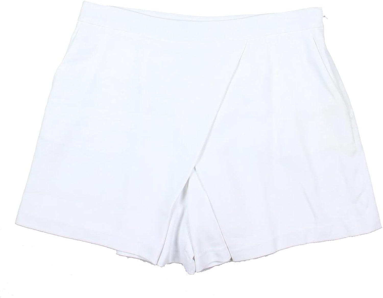 Lauren Ralph Lauren Womens Faux Wrap Solid Skort White 14
