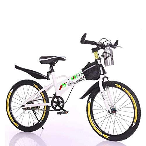 MAZGLXS Niños Hardtail Mountain Bike for Boys Youth Doblading Mountain Bicycle BMX Frame 20 Pulgada 6 Velocidad Ajustable Altura Niños Bicicleta de Carretera para niñas y niños, Conjunto rápido