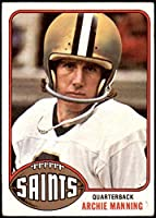 1976 Topps # 485 Archie Manning New Orleans Saints (Football Card) VG Saints Ole Miss
