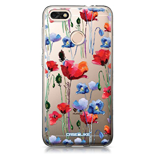 CASEiLIKE® Funda Huawei P9 Lite Mini, Carcasa Huawei P9 Lite Mini, Acuarela Floral 2234, TPU Gel Silicone Protectora Cover