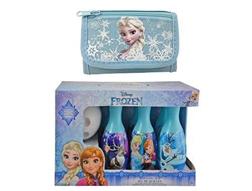Disney Die Eiskönigin ELSA, Prinzessin Anna und Olaf Bowling-Set, Spielzeug, mit rosa Geldbörse